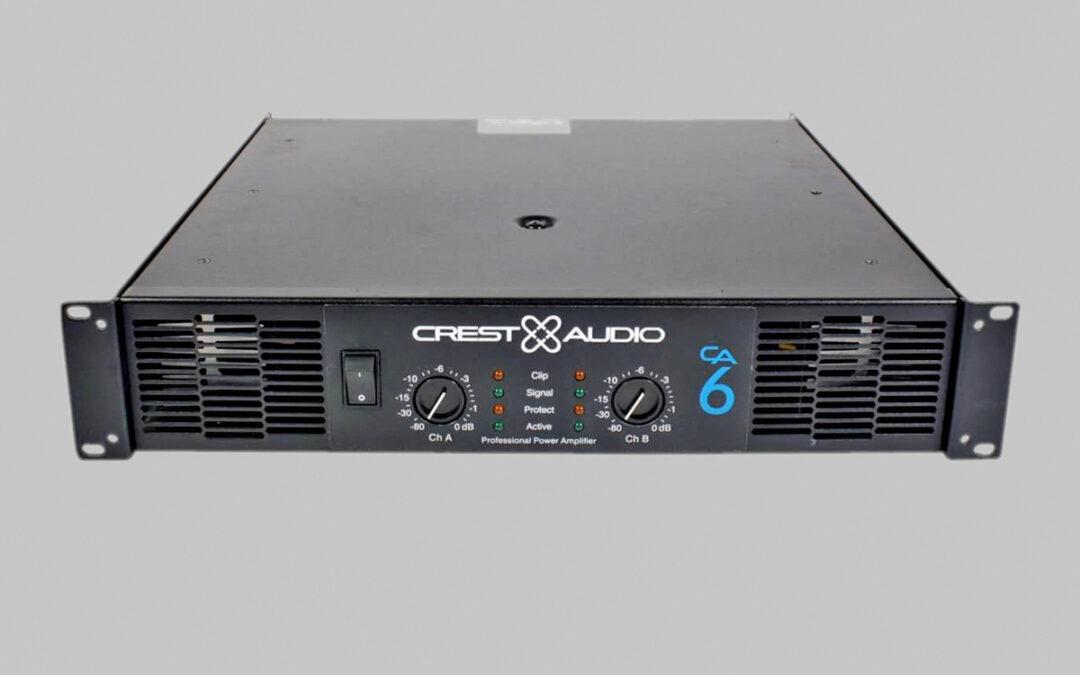 Crest audio ca6. Amplificador de potencia profesional