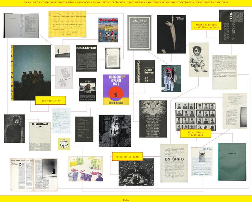 Salvo libros y catálogos. Edición de la fotografía tras la voz de Jorge Rueda.